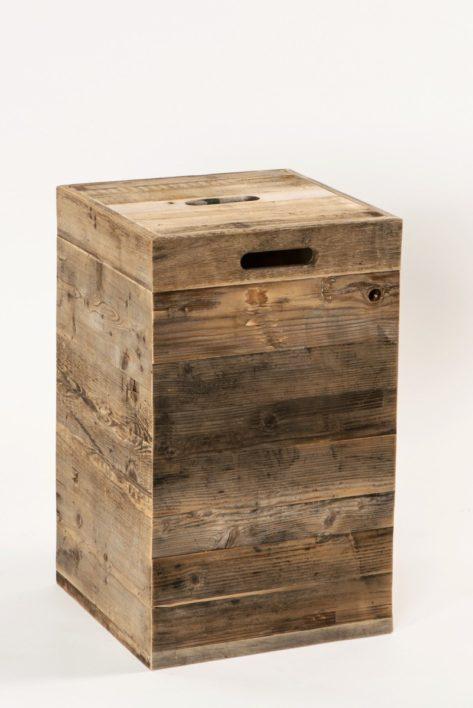 w schekorb rustikal mit integriertem stoffsack und 85 litern inhalt. Black Bedroom Furniture Sets. Home Design Ideas